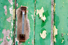 Color detail of a vintage door handle Royalty Free Stock Image