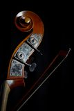 Vintage double bass. Color detail of a vintage double bass stock image