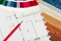 Color details and plan Royalty Free Stock Photo