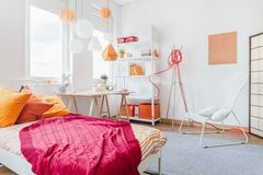 Color details in teen bedroom Stock Image