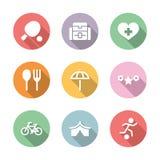 Color determinado de la actividad y del resto del icono con la sombra Foto de archivo libre de regalías