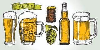 Color determinado de la cerveza Imagen de archivo libre de regalías