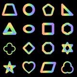 Color determinado de la pendiente del arco iris del vector imposible de la forma libre illustration