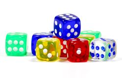 Color Dice royalty free stock photography