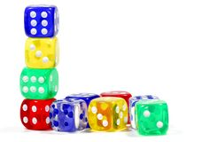 Color Dice Stock Photography