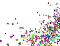 Color Dice Plenty Royalty Free Stock Image