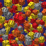 Color Dice Seamless Pattern Stock Images