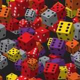 Color Dice Seamless Pattern Stock Photography
