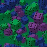 Color Dice Seamless Pattern stock illustration