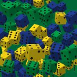 Color dice seamless pattern royalty free illustration
