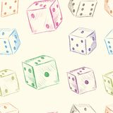 Color dice seamless texture Royalty Free Stock Images