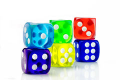 Color dice transparent Royalty Free Stock Image