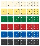 Color dices set. Vector illustration. Isolated on white background Royalty Free Stock Images