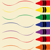 Color. Different color writing on an abstract paper Royalty Free Stock Photography