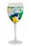 Color diffusion. Several dyes diffusing in a wine glass Stock Photography
