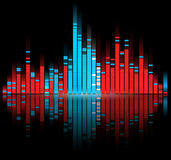 Color digital sound equalize Royalty Free Stock Image