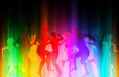 Color disco Stock Images
