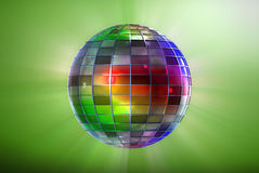 Color disco ball Royalty Free Stock Photo