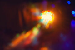 Color disco club light special effects and laser show Stock Image