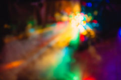 Color disco club light special effects and laser show Royalty Free Stock Photos