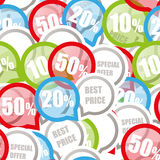 Color Discount labels Royalty Free Stock Image