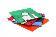 Color diskettes Stock Image