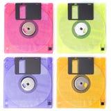 color disksfloppyen isolerad Fotografering för Bildbyråer