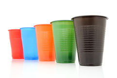 Color disposable glasses Stock Image