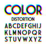 Color distortion alphabet Royalty Free Stock Photos