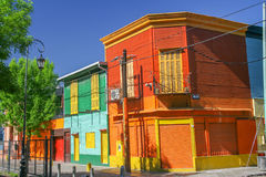 A color district La Boca in Buenos Aires,  Argentina Royalty Free Stock Photography