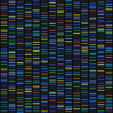 Color Dna Sequence Results on Black Seamless Background. Vector. Illustration Royalty Free Stock Photos