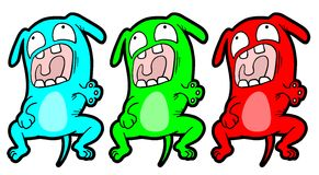 Color dog Stock Images
