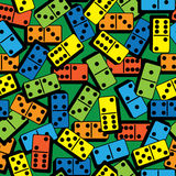 Color domino of seamless pattern.  Royalty Free Stock Image