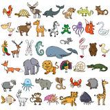 Color doodle animals sketch Royalty Free Stock Photography