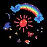 Color doodle2 del verano ilustración del vector