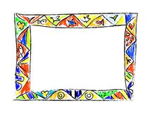 Color Doodles Frame Royalty Free Stock Images