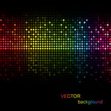 Color dot background. Abstract color background on black Royalty Free Stock Image