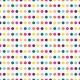 Color dot seamless repeat pattern . Stock Images