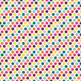 Color dot seamless repeat pattern . Royalty Free Stock Photos