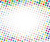 Color dots. On white background stock illustration