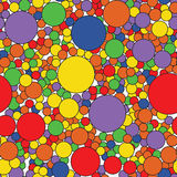 Color dots abstract background. Vector illustration. Rounds decoration backdrop. Stock Photo