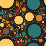 Color dots abstract background. Vector illustration. Rounds decoration backdrop. Stock Photography