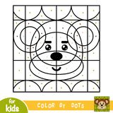 Color by dots, game for children, Monkey Stock Images