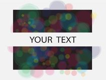 Color dots frame background graphic Stock Images