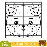 Color by dots, game for children, Bear Royalty Free Stock Photos
