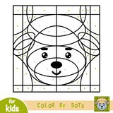 Color by dots, game for children, Sheep. Color by dots, education game for children, Sheep Royalty Free Stock Photo