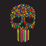 Color Dots Skull Royalty Free Stock Photo