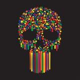 Color Dots Skull Royalty Free Stock Photo