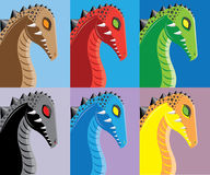 Color dragons. Royalty Free Stock Photos