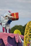 Color dreams. Street theater performance in Gorky park in Moscow. stock photography